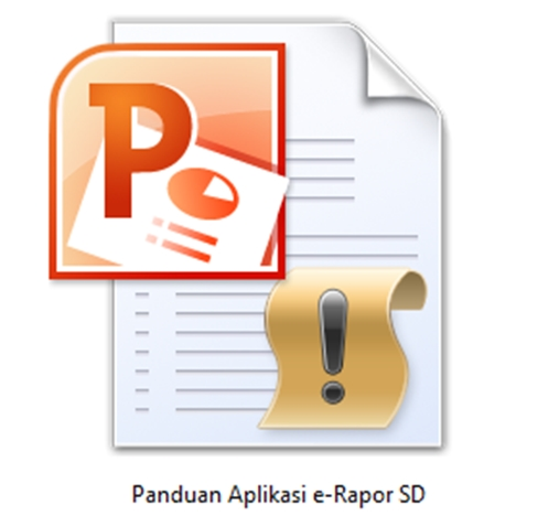 Download Panduan e-Rapor SD file Power Point-ppt