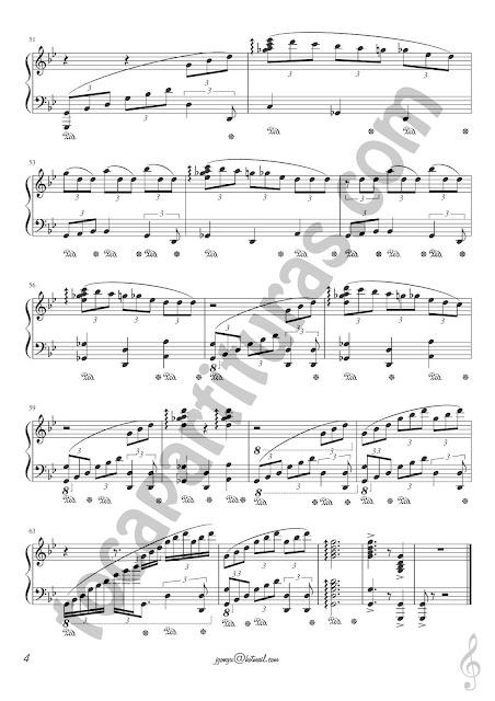 4 Granada 432 Hz de José Luis González Partitura de Piano