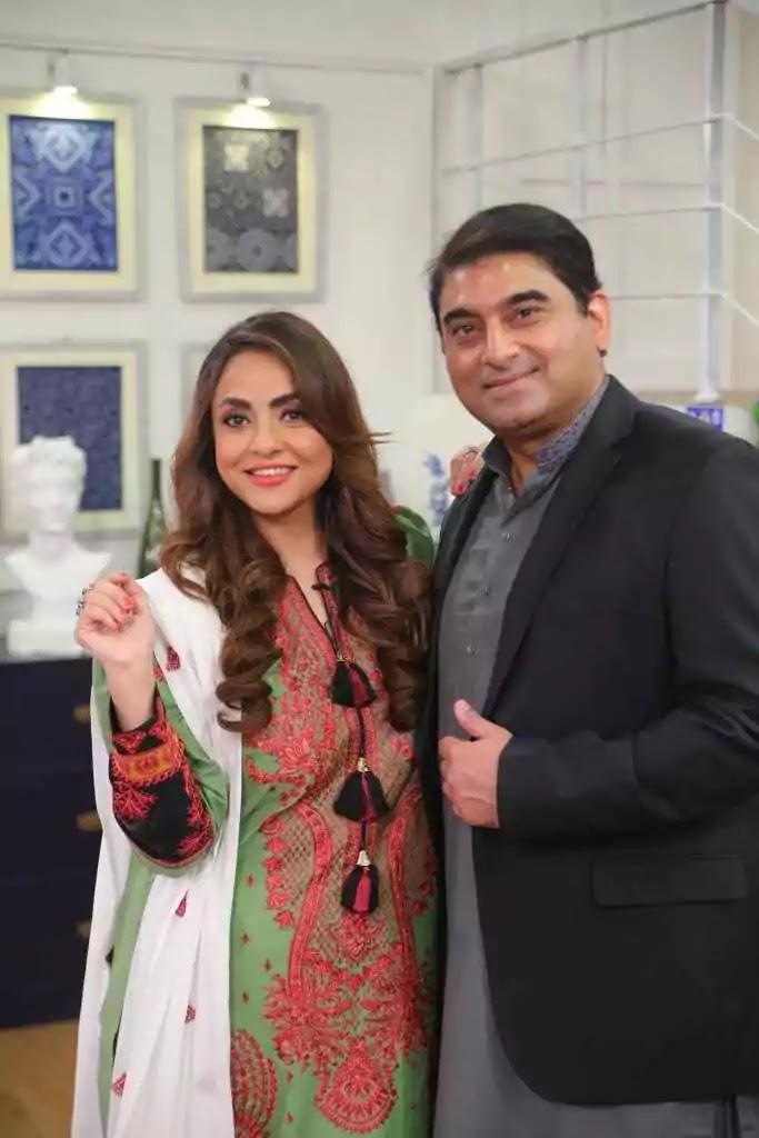 Newly Wed Couple Nadia Khan and Faisal Mumtaz in Nida Yasir's Morning Show