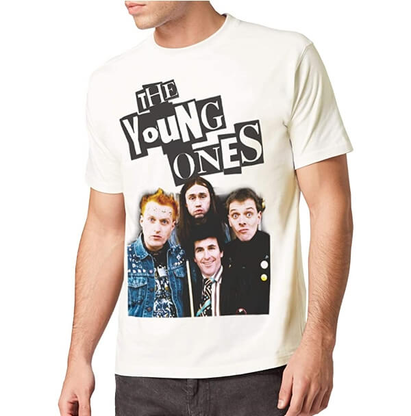 MAR 19 - THE YOUNG ONES TRIBUTE T-SHIRT. Pay homage to the anarchic BBC sitcom.