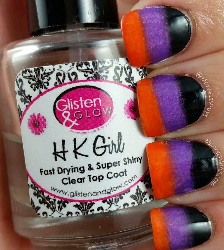 halloween themed gradient nail art