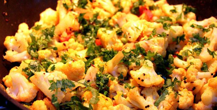 कॉलीफ्लॉवरची मसालेदार भाजी - पाककला | Cauliflowerchi Masaledar Bhaji - Recipe