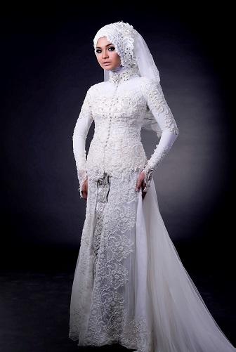 54 Model Baju Kebaya Muslim Gaun Pengantin Muslimah