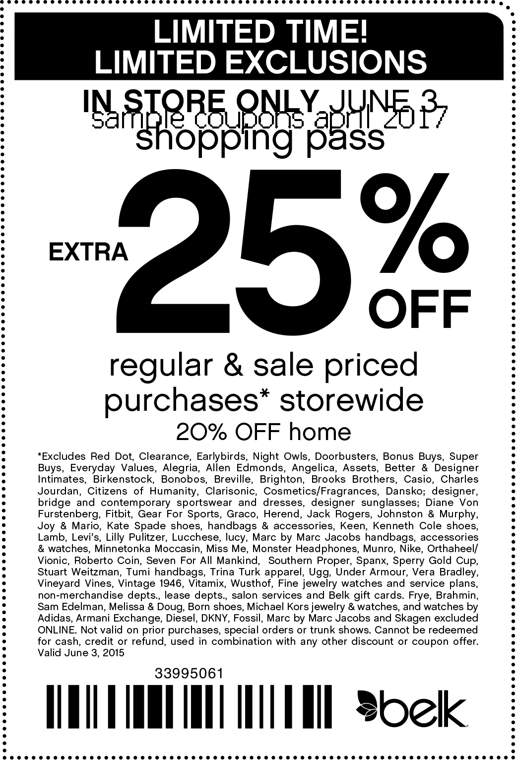 Belk coupon code 99057528