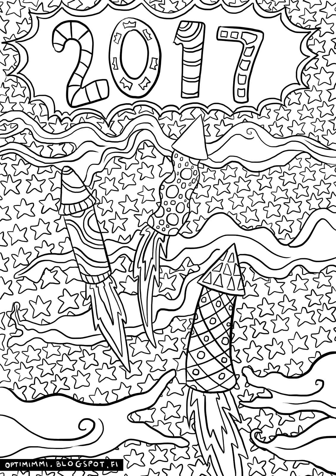 new years eve coloring pages - photo#31