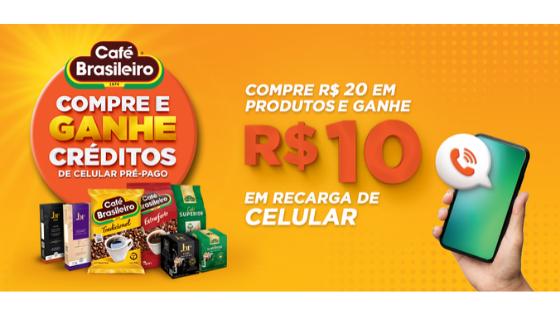 promoção café brasileiro ganhe recarga grátis