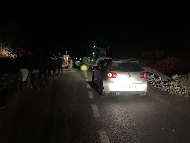 Blokiran put prema graničnom prelazu Grnčar
