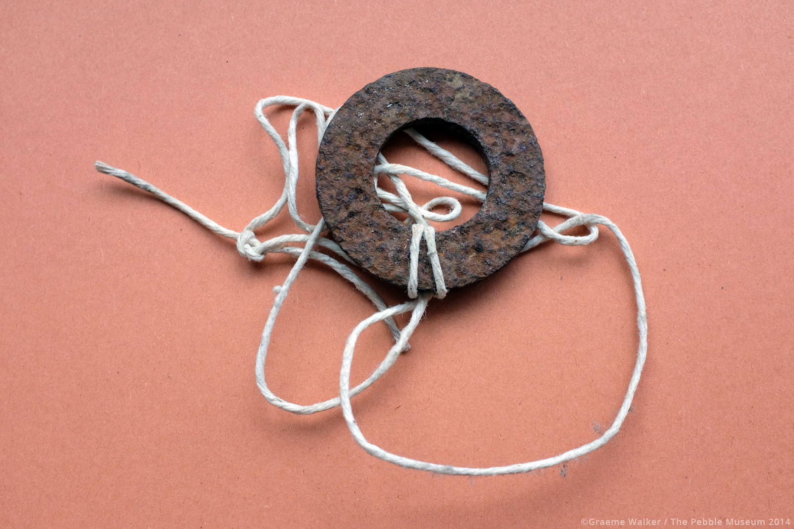 Metal Washer with String © Graeme Walker / The Pebble Museum 2019