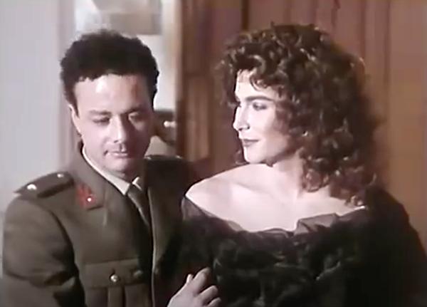 """Paolo Sassanelli femulating in the """"La Vendetta"""" episode of Italian television's Classe di Ferro."""