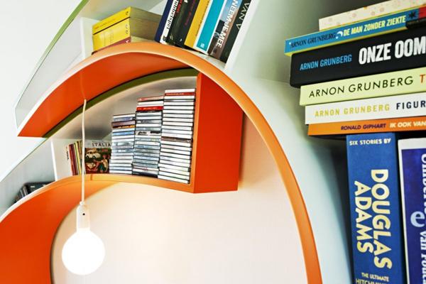 Diseño innovador de librero y sillón