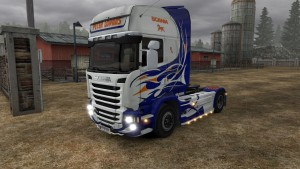 Peter Lovaas skin for Scania Streamline (EviL)