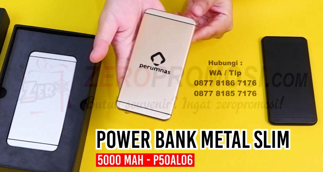Power Bank Metal Slim Iphone 5000 mAh - P50AL06 Powerbank P50AL06, Powerbank 5000mAH Iphone (P50AL06)