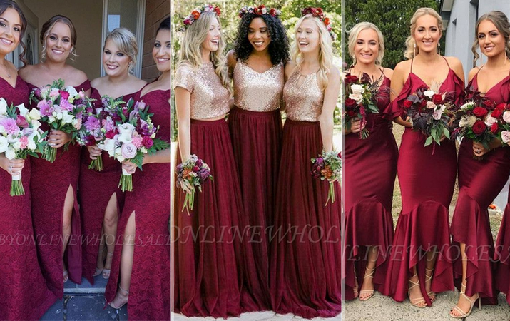 burgundy bridesmaid dresses babyonline dresses