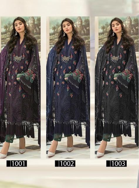 Bonanza Mbroidered mariya b vol 11 pakistani Suits catalog wholesaler