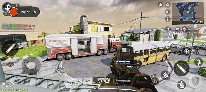 Captura Call Of Duty en el Redmi Note 9s