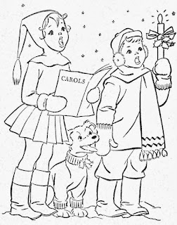 Desenhos para Colorir no Natal papai noel arvores e neve de natal