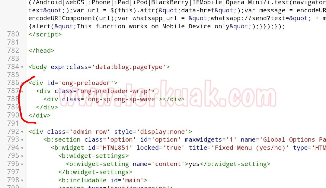 kode html efek preloading