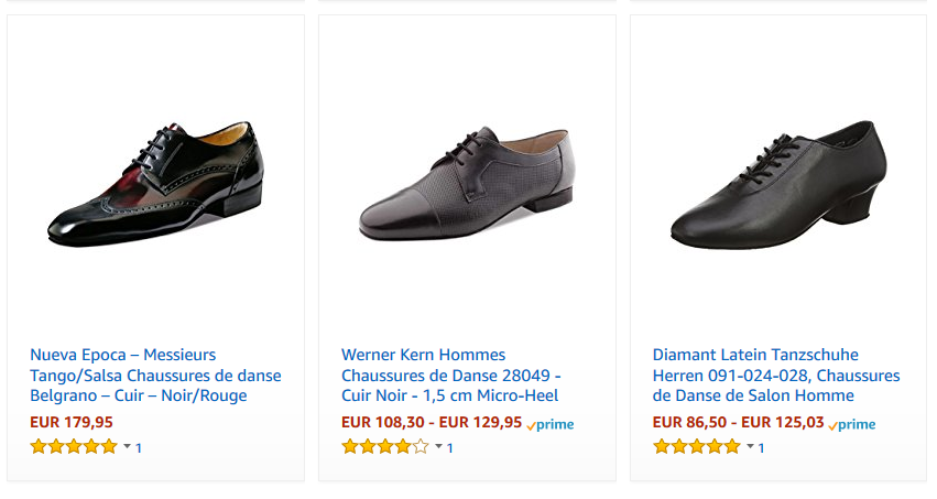 Chaussures tango hommes pas cher