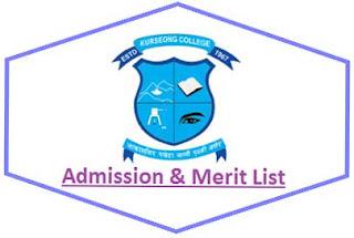 Kurseong College Merit List