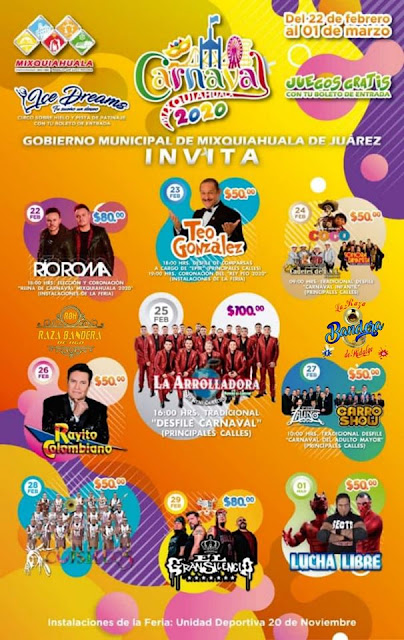 carnaval mixquiahuala 2020