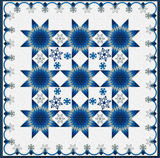 Winter's Promise Quilt Designed by Christine Stainbrook for RJR Fabrics