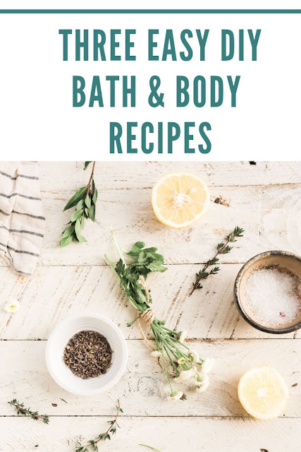 Three easy diy spa recipes to make at home.  These spa diy are from a book filled with diy spa ideas that are easy to make at home.  Diy spa stuff to make with common ingredients that you probably have at home.  If you need spa diy ideas, check these out.  Make a home spa with spa ideas diy.  How to make diy spa products at home.  #spa #diy #diyspa #diybathproducts #diybeauty