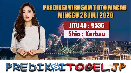 Prediksi Virdsam Toto Macau Minggu 26 Juli 2020