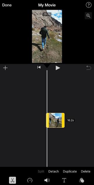 Edit Instagram reels with iMovie on iPhone
