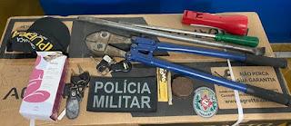Três suspeitos são presos durante madrugada quando se preparavam para arrombar comércios em Cuité