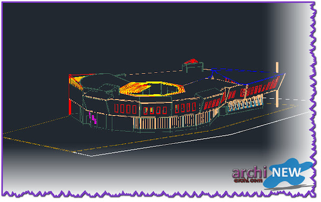 - Eastern facade Full file hall sport dwg