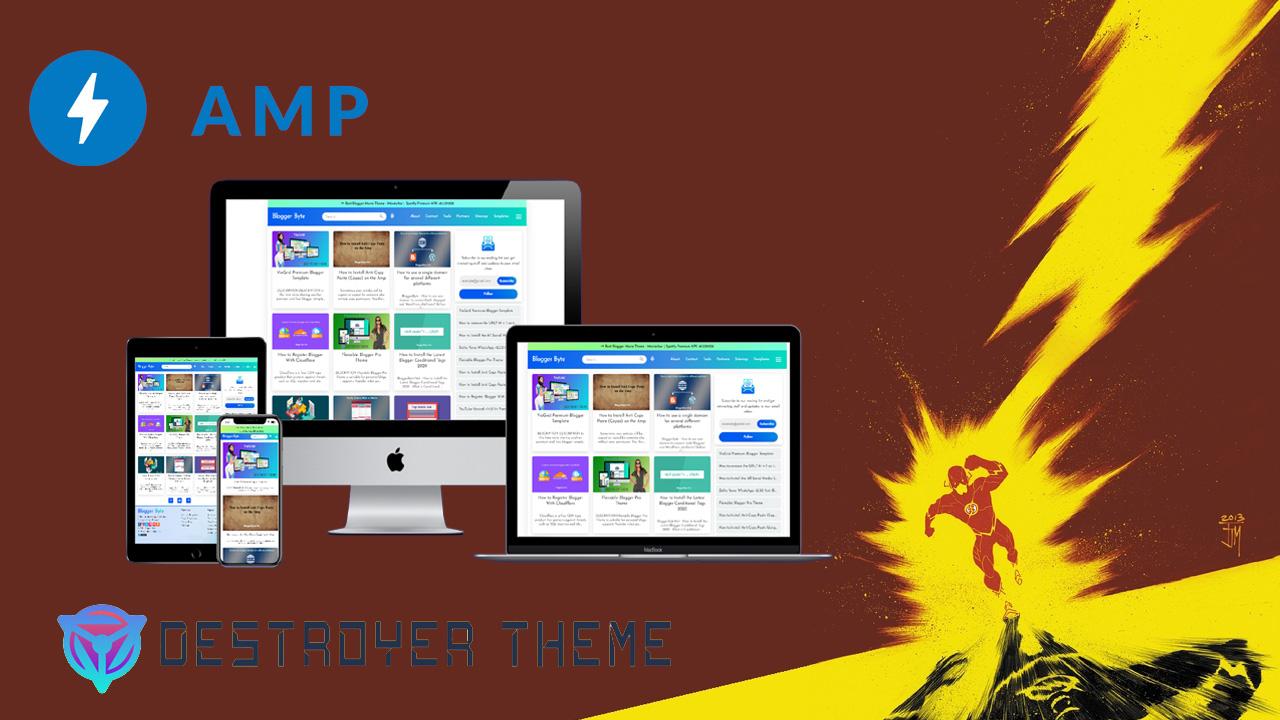 Super fast Amp Blogger Theme