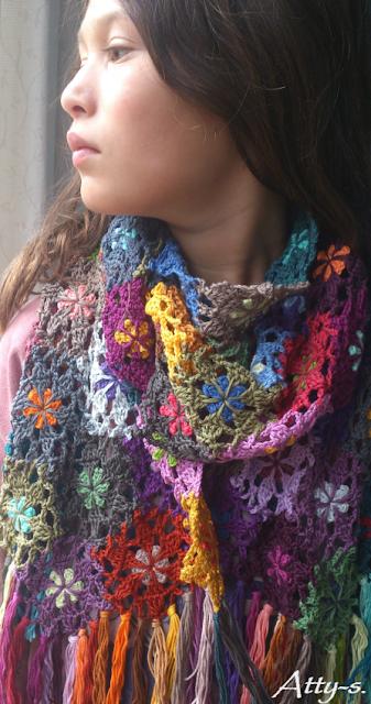 attys haakblog sjaal bloemetjes moederdag