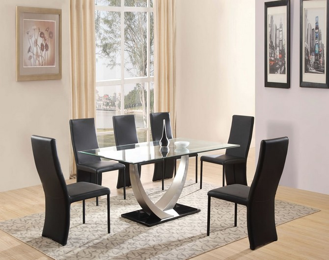 black kitchen table andchairs glass