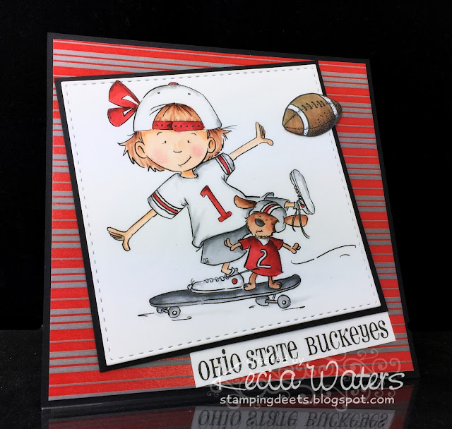 Sassy Cheryl's, Kecia Waters, Copic markers, Go Buckeyes, Ohio State