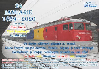 trenul unirii - info drumul taberei