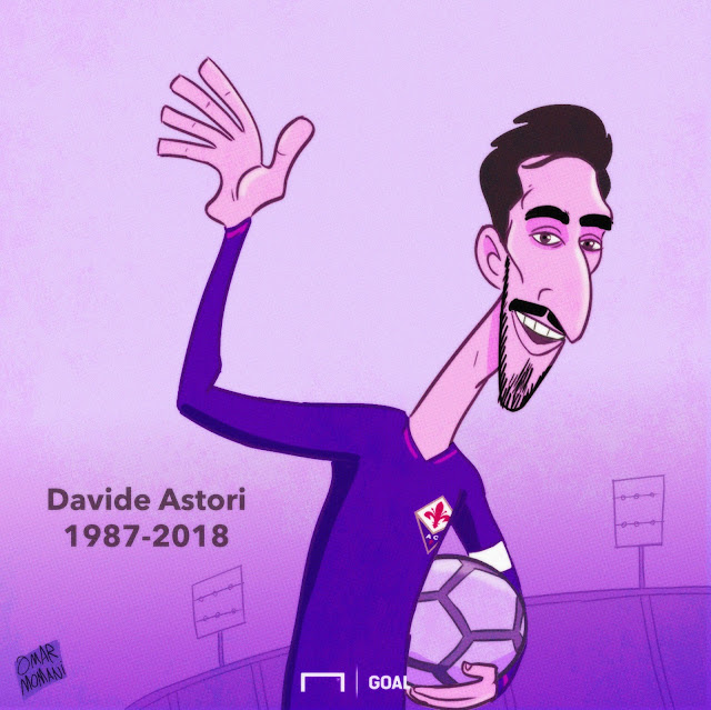 Davide Astori caricature