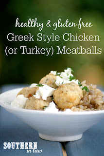 Healthy Greek Style Chicken Baked Meatballs Recipe