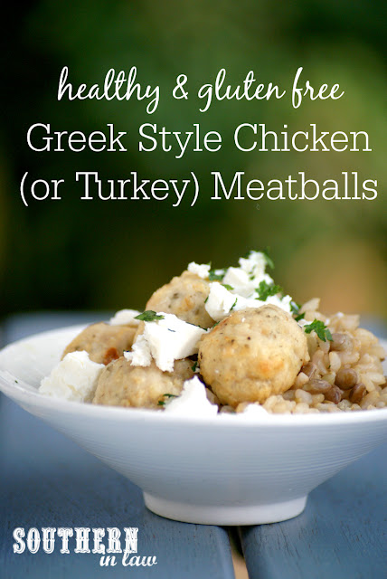 Healthy Greek Style Chicken Meatballs Recipe  low fat, low carb, healthy, gluten free, high protein, turkey mince, chicken mince, paleo, grain free