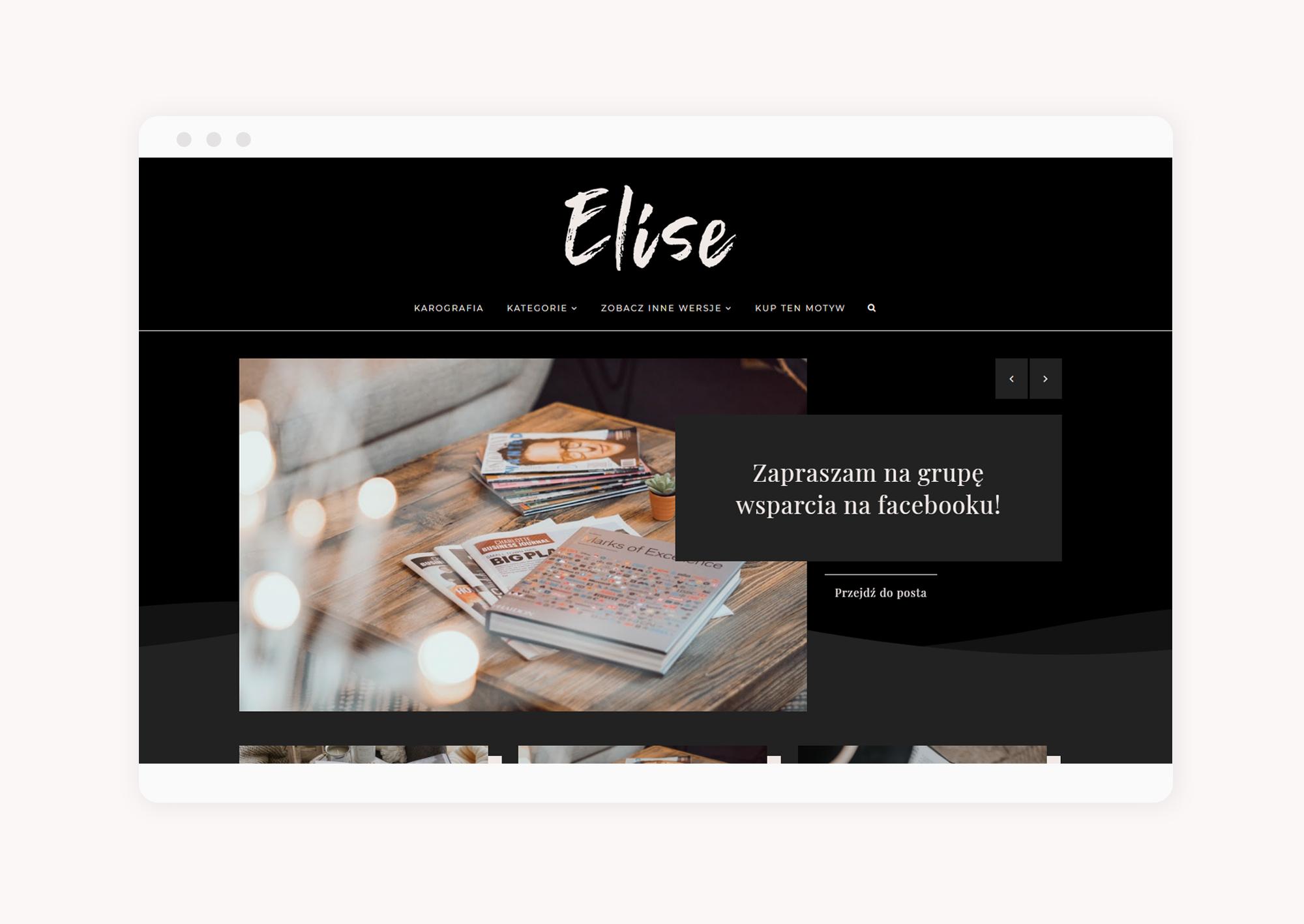 multi motyw na bloggera Elise