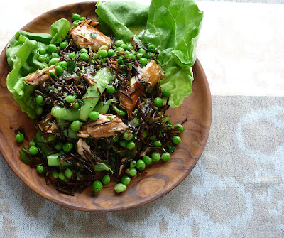 Smoked Trout & Wild Rice Salad with Peas