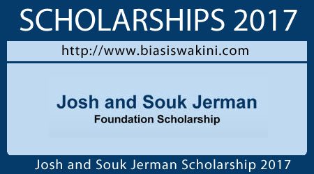 Josh and Souk Jerman Scholarship 2017