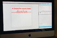création du visuel sur le logiciel cameo