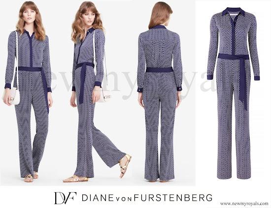 Queen Mathilde wore DVF - Diane von Furstenberg Traci jumpsuit