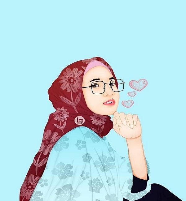 91 Muslimah Bercadar Gambar Kartun Perempuan Cantik Berhijab Cikimm Com
