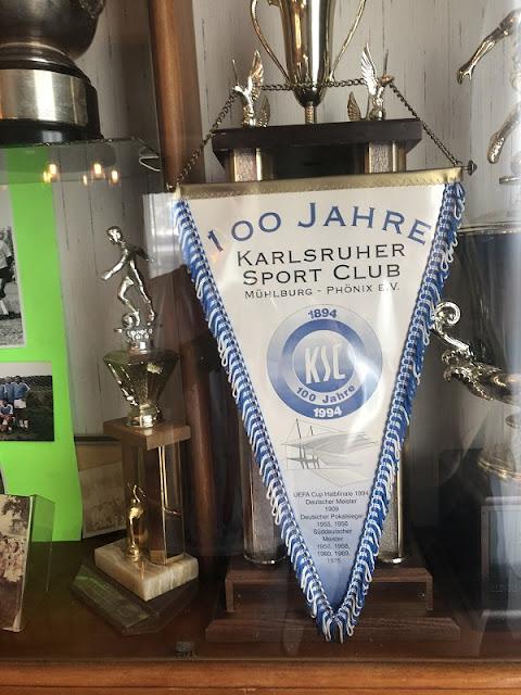 Vereinswimpel meines Vereins Karlsruher SC in Wisconsin
