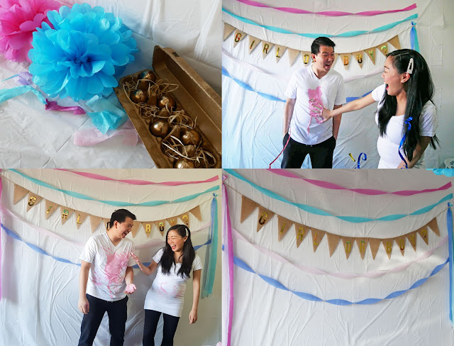 Gender Reveal Using Eggs Filled With Paint