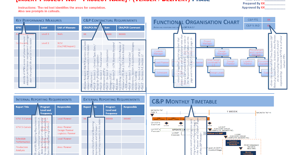 Controls and Planning Management Plan - ENGINEERING MANAGEMENT