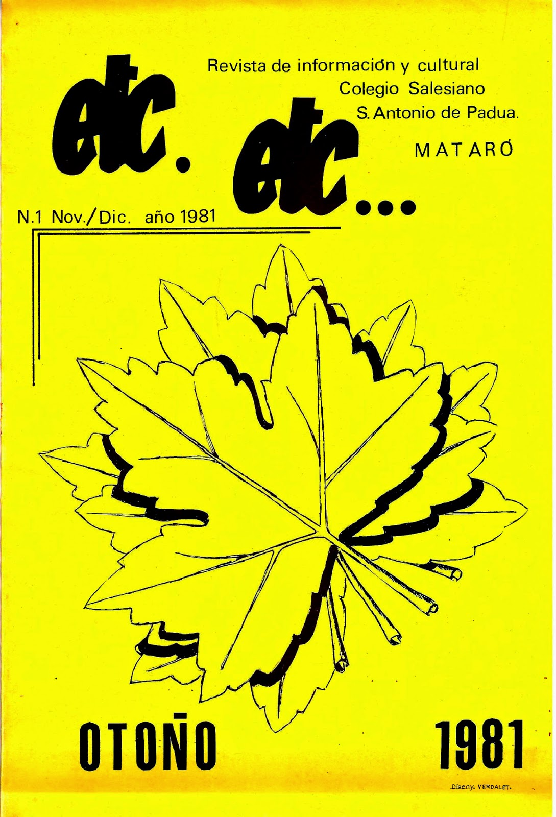 Revista etc. etc... nº1 1981