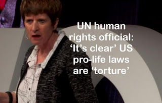 UN human rights official: 'It's clear' US pro-life laws are 'torture'