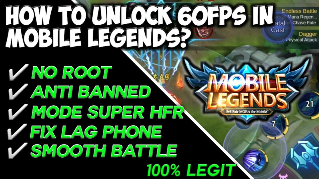 Configure Mobile Legends 60 FPS Anti-Lag!
